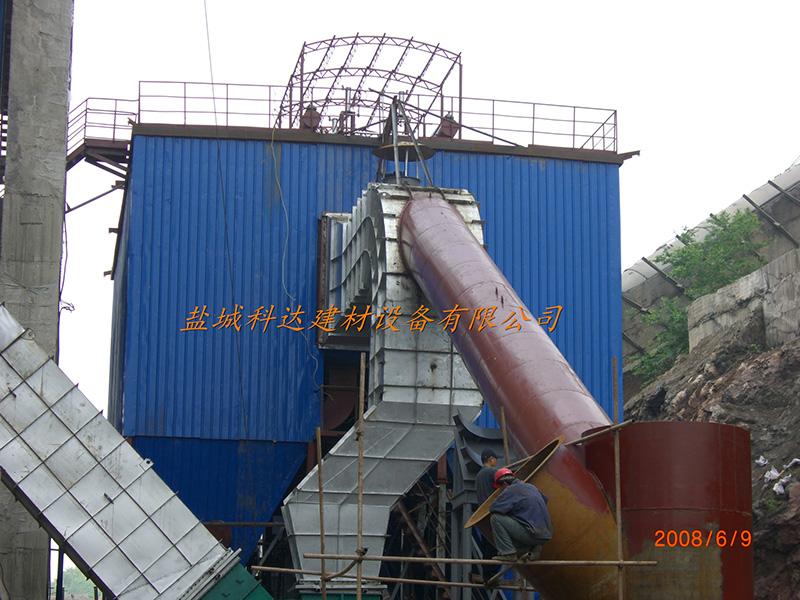 丹东赛马2000T水泥生产线窑尾布袋除尘